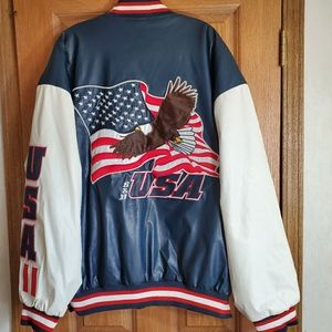 Vintage Steve & Barry's Wool USA Patriotic Coat